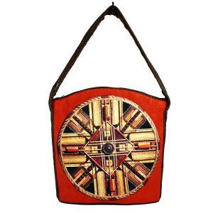 Kolorowa torba hobo z mandalą