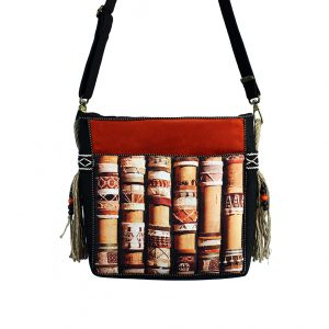 pomarańczowa torebka rękodzielnicza