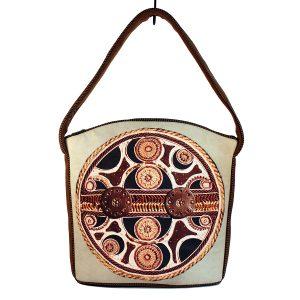 kremowa torb z ekologicznej skóry dla weganki
