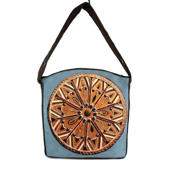 Unikalna torba handmade z eco-zamszu