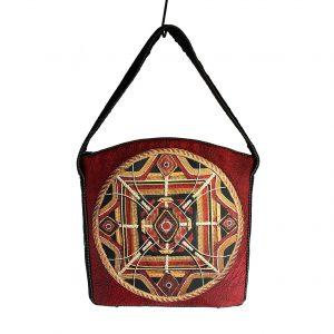Czerwona torebka boho mandala