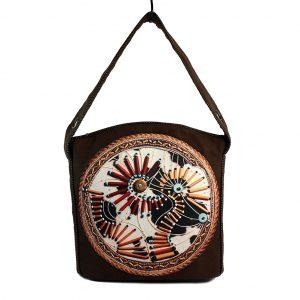 Brązowa torba boho